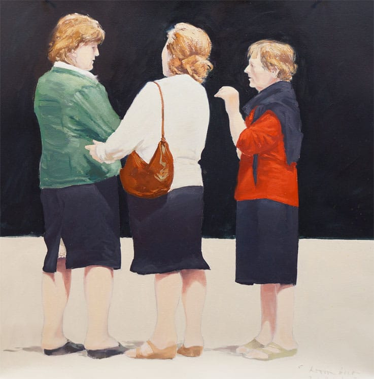 Three women in Cortona